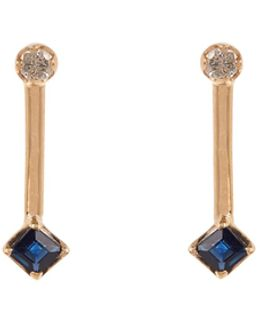Diamond, Topaz & Yellow-gold Earrings