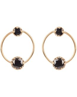 Onyx & Yellow-gold Earrings