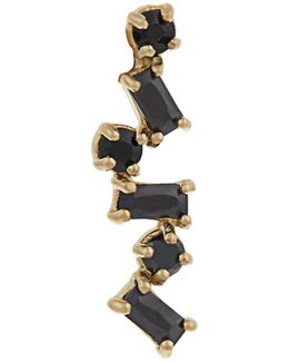 Onyx & Yellow-gold Earring