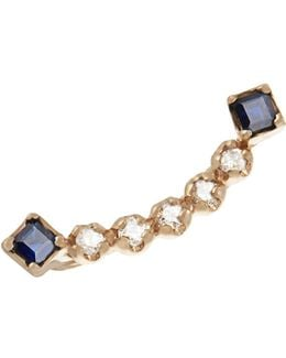 Sapphire & Yellow-gold Earring