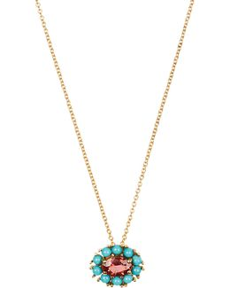 Sapphire, Turquoise & Yellow-gold Necklace
