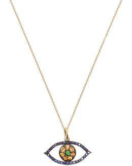 Sapphire, Tsavorite & Yellow-gold Necklace