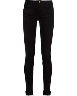 Tiger-appliqué High-rise Skinny Jeans