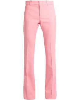 Flared Wool-blend Trousers