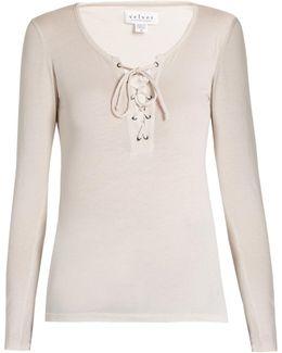 Mandee Cotton-blend Jersey T-shirt