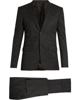 Flecked Wool-blend Single-breasted Suit