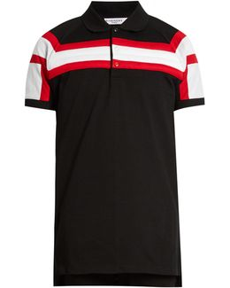 Columbian-fit Padded-stripes Polo Shirt