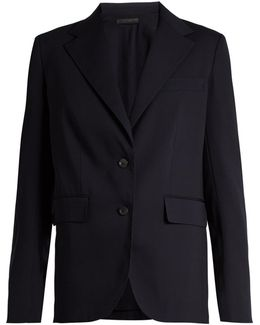 Nodler Single-breasted Wool And Silk-blend Jacket