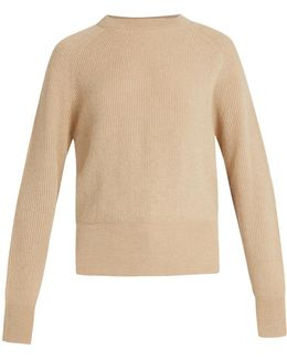 Lenni Crew-neck Ribbed-knit Sweater