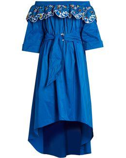 Taffeta Embroidered Dress