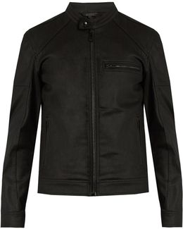 Beckford Resin-coated Cotton Moto Jacket