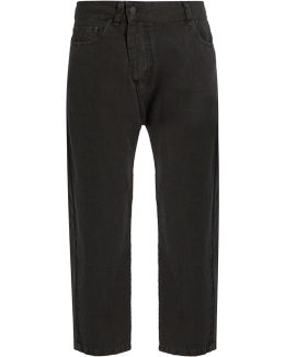 Bias Cotton And Linen-blend Tapered-leg Trousers