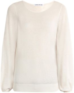 Georgia Cotton And Cashmere-blend Sweater