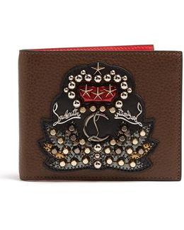 Kaspero Embellished Bi-fold Leather Wallet
