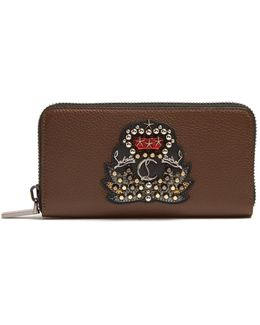 Panettone Spiked Leopard-print Zip-around Wallet