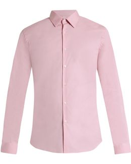 Seaford Single-cuff Cotton-blend Poplin Shirt