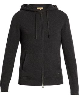 Zip-through Hooded Cashmere Sweater