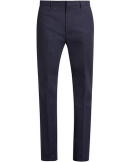 Spike Slim-fit Stretch Cotton-blend Trousers