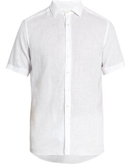 Short-sleeved Linen Shirt