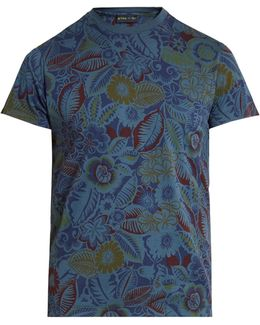 Floral-print Cotton T-shirt