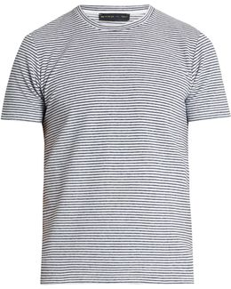 Striped Terry-towelling T-shirt