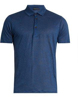 Linen-jersey Polo Shirt