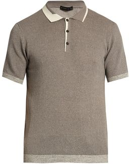 Knitted Cotton And Cashmere-blend Polo Shirt