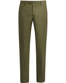 Stretch-cotton Panama Trousers