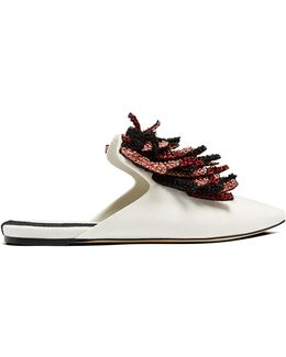 Loto Fringed Slipper Shoes