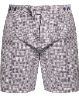 Angra Mid-length Printed Swim Shorts