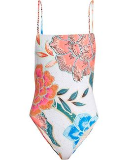 Arcadia Coral-print Swimsuit