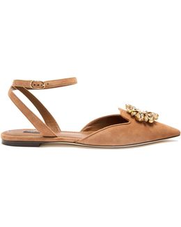Belluci Point-toe Suede Flats