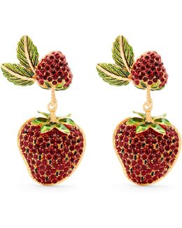Strawberry Drop Clip-on Earrings