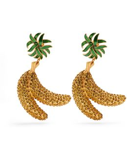 Crystal-banana Clip-on Earrings