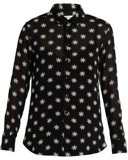 Star-print Silk Shirt