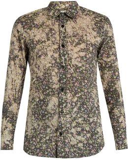 Floral-print Cotton-batiste Shirt