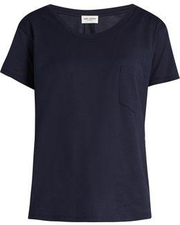 Patch-pocket Cotton T-shirt