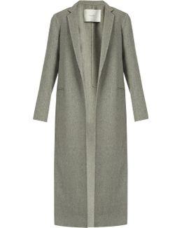 Notch Lapel Cashmere And Wool-blend Coat