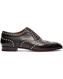Charlie Clou Studded Leather Oxford Shoes