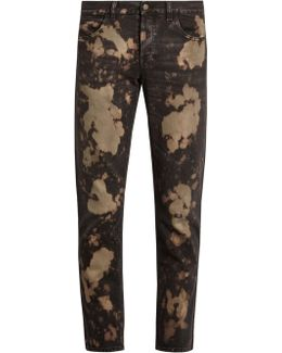 Bleached Slim-fit Jeans