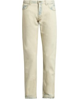 Slim-fit Bleached Jeans
