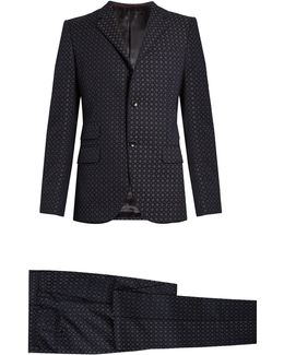 Monaco Cotton-blend Jacquard Suit