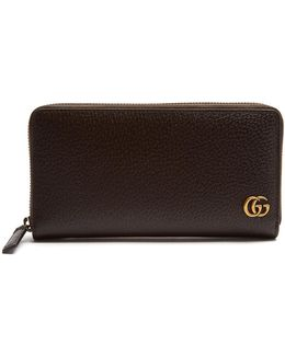 Gg Marmont Grained-leather Wallet