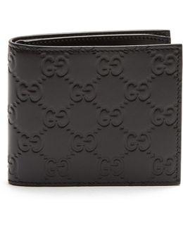 Logo-debossed Bi-fold Leather Wallet
