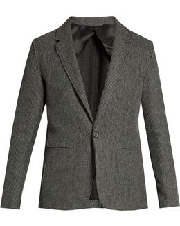 Notch-lapel Cotton-knit Blazer