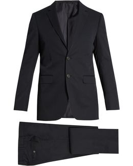 Attitude-fit Cotton-twill Suit