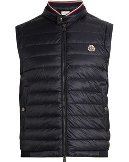 Maglia Cotton-jersey And Shell Down Gilet