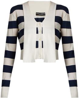 Striped Cashmere And Silk-blend Cardigan