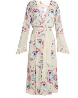 Flower Child Ruffled-cuff Cover-up