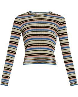 Multi-striped Cotton Sweater